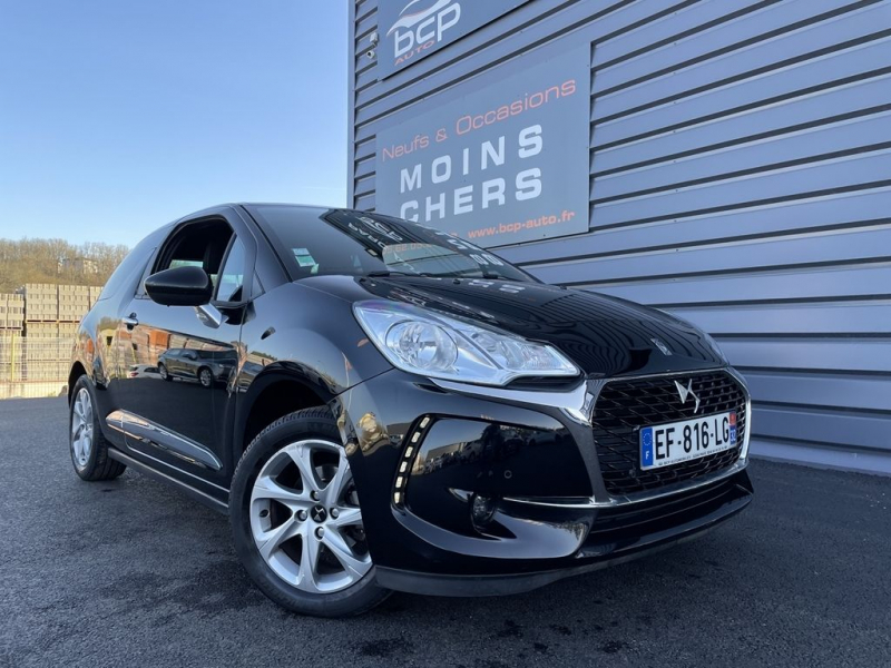 Ds DS 3 PURETECH 82CH SO CHIC Essence NOIR PERLA Occasion à vendre
