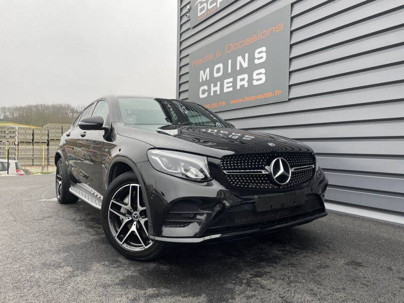 Mercedes-Benz GLC COUPE 250 211CH FASCINATION 4MATIC 9G-TRONIC EURO6D-T Essence NOIR Occasion à vendre